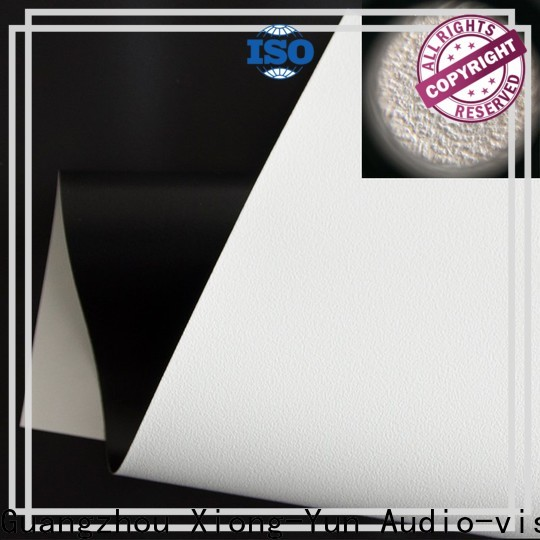 metallic front fabrics factory for thin frame projector screen