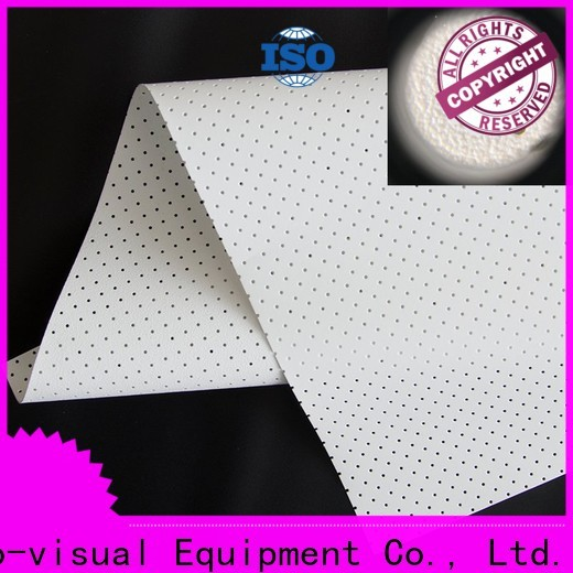 XY Screens metallic acoustic screen material customized for fixed frame projection screen