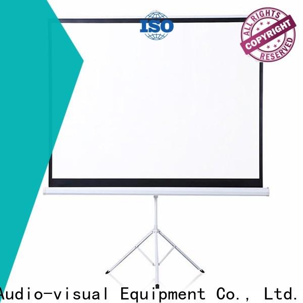 XY Screens portable tripod projector screen personalized for company