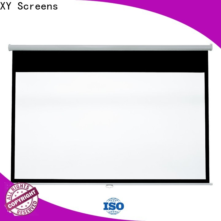 XY Screens vivid pull down screen design for students