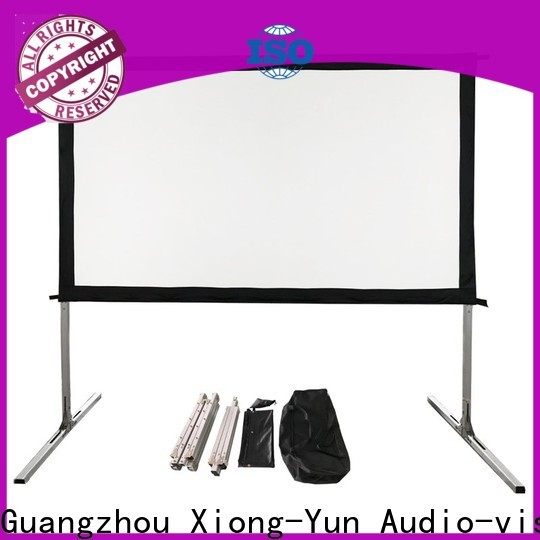curved outdoor retractable projector screen personalized