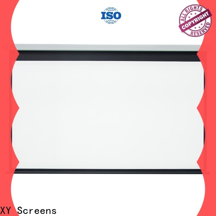 XY Screens motorized projector screen personalized for home