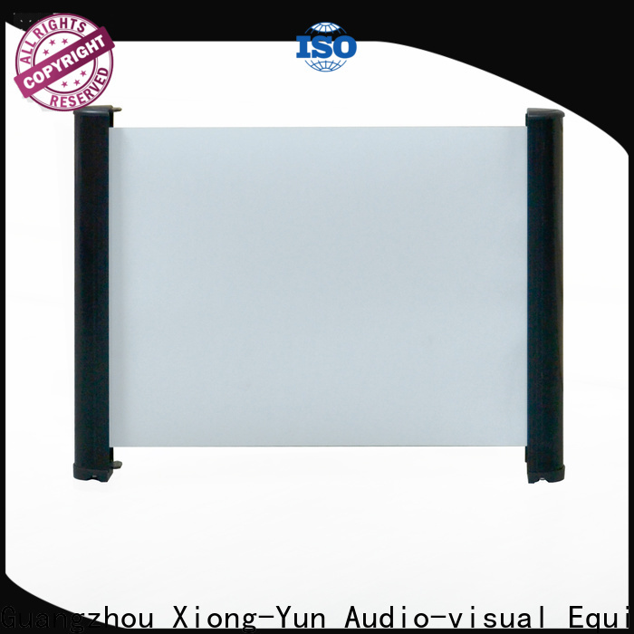 retractable projector screen size supplier for household