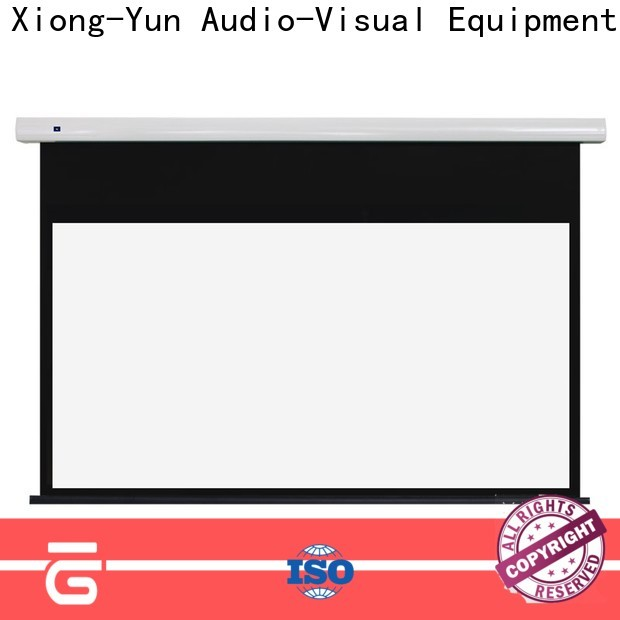 XY Screens intelligent tensioned projector screen supplier for living room
