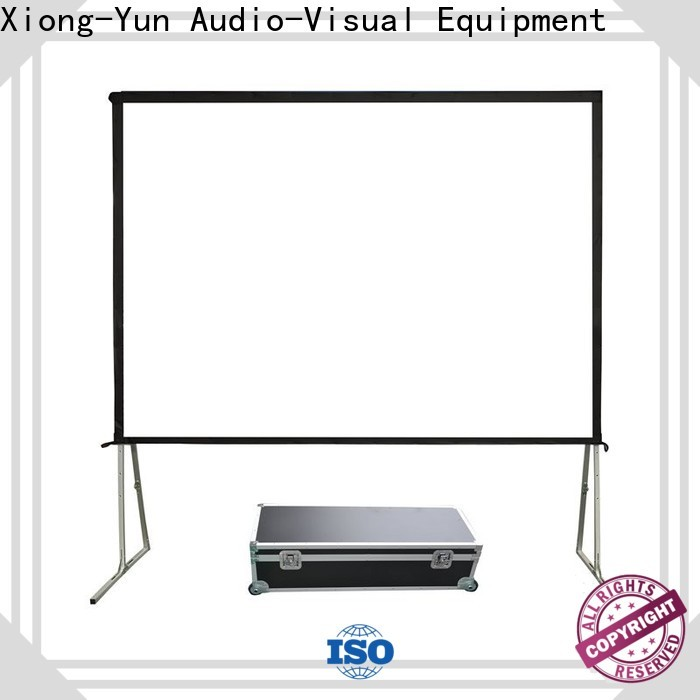 fast folding outdoor retractable projector screen wholesale for park
