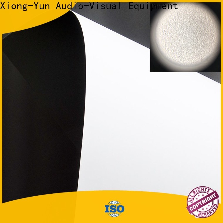 XY Screens durable front fabrics design for motorized projection screen