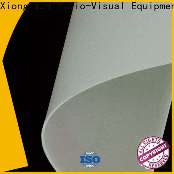transparent Rear Fabrics design for motorized projection screen