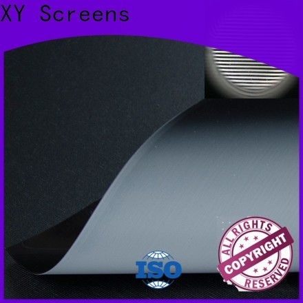XY Screens Ambient Light Rejecting Fabrics customized for motorized projection screen