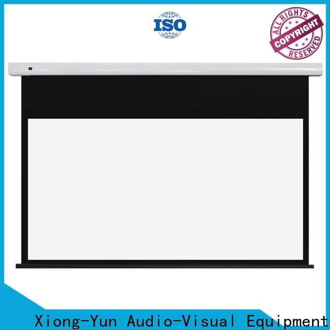 intelligent electric projector screen supplier for theater