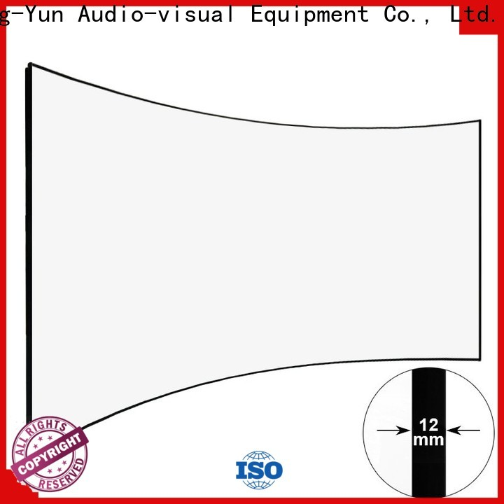 XY Screens curved curved home theater screen factory price for home cinema
