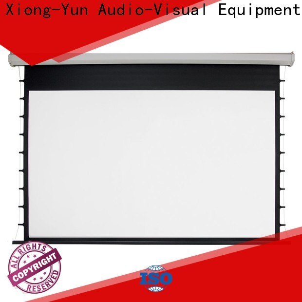 XY Screens retractable Motorized Projection Screen supplier for home