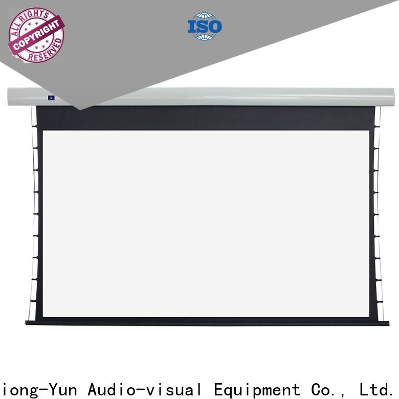 electric tab tensioned projector screen personalized for home