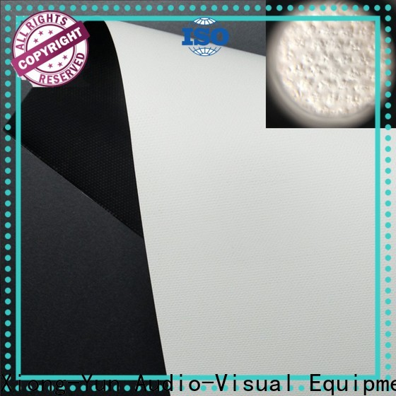 XY Screens front and rear fabric design for projector screen
