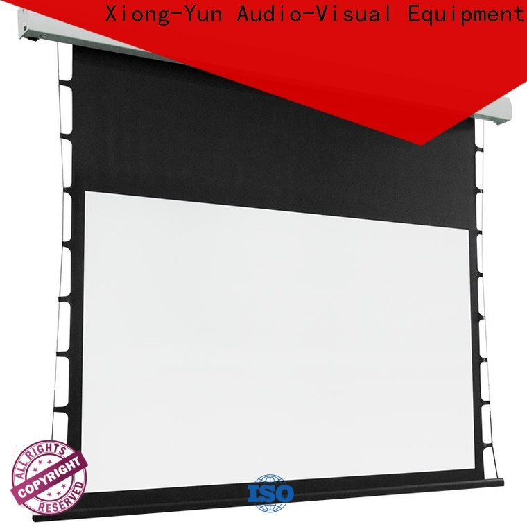 light rejecting tensioned projector screen wholesale for living room