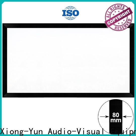 XY Screens fixed movie projector screen factory price for home