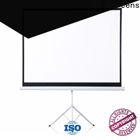 XY Screens stable portable tripod screen personalized for meeting
