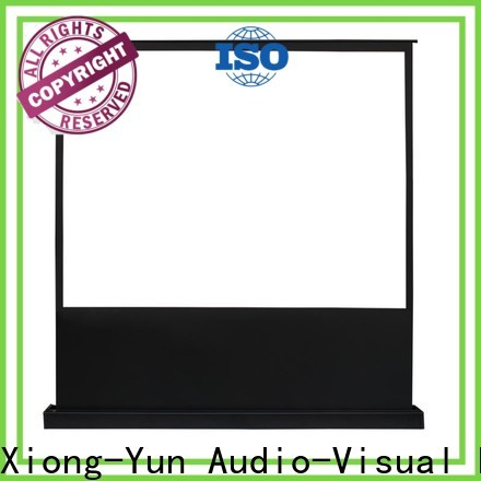 white pull up projector screen factory for indoors