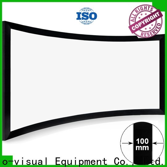 XY Screens curved curved projector screen diy from China for home