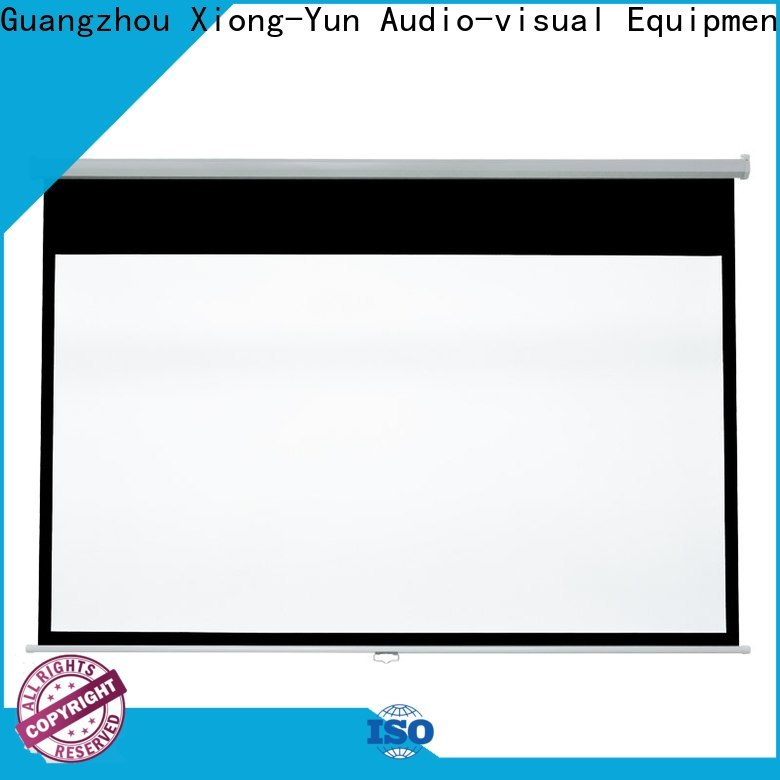 XY Screens drop down projector screen design for college