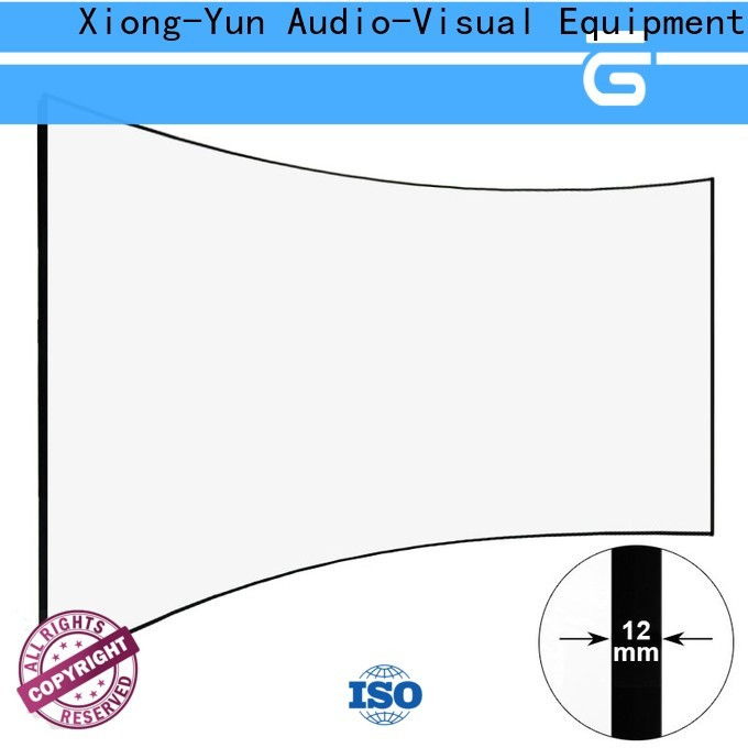 XY Screens curved home theater screen factory price for household
