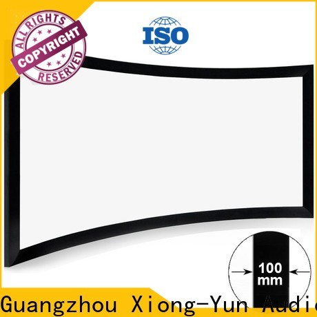 thin curved projector screen diy manufacturer for theater