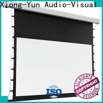 XY Screens tab tensioned projector screen wholesale for living room