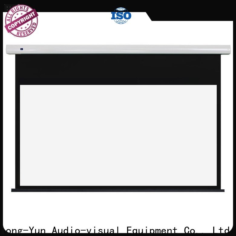 XY Screens Motorized Projection Screen design for household