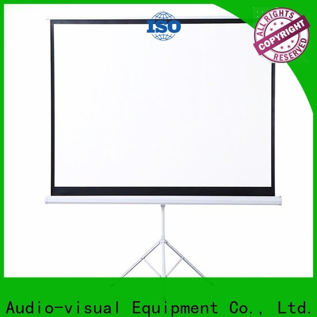 XY Screens standard tripod screen personalized for meeting room