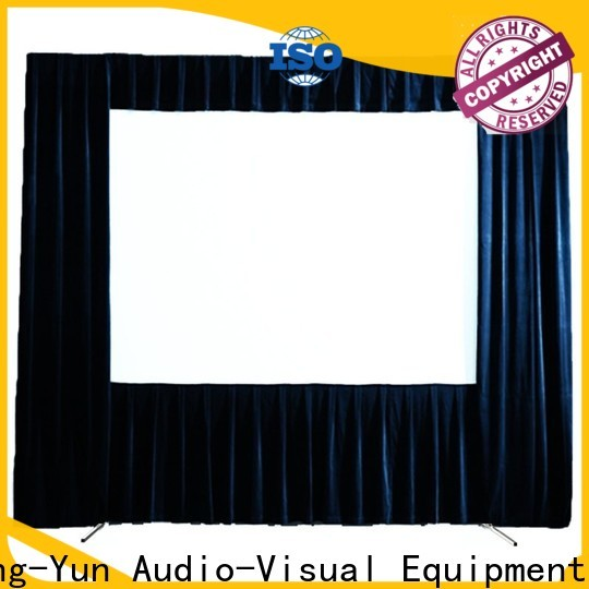 XY Screens portable outdoor pull down projector screen personalized for park