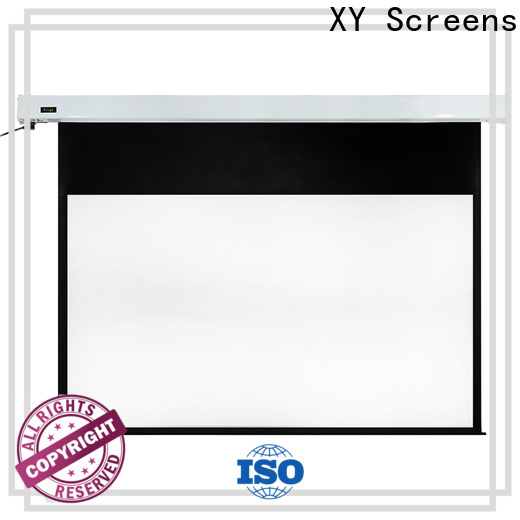 XY Screens retractable Motorized Projection Screen wholesale for home