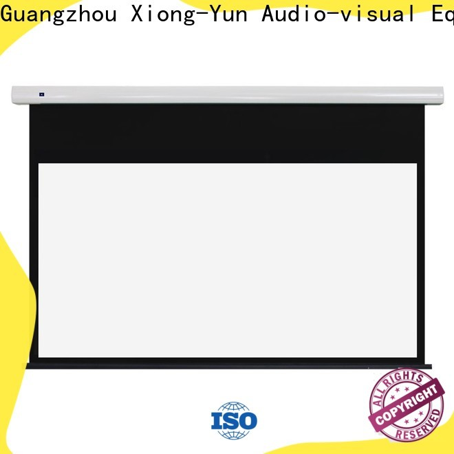 XY Screens intelligent tab tensioned projector screen supplier for indoors