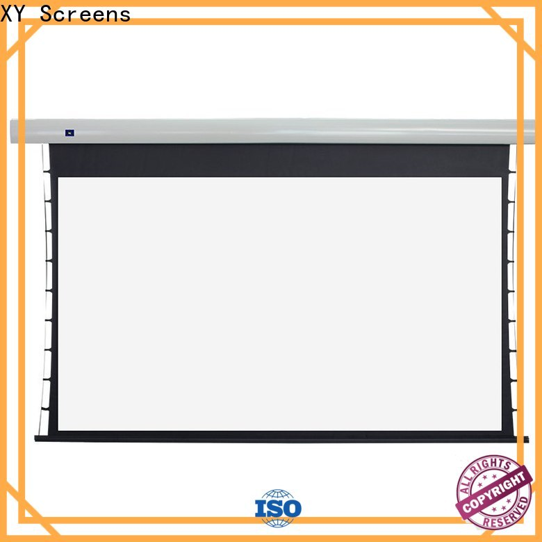 XY Screens tensioned projector screen wholesale for indoors