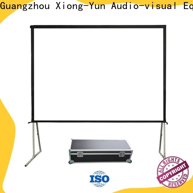 XY Screens outdoor pull down projector screen personalized for square
