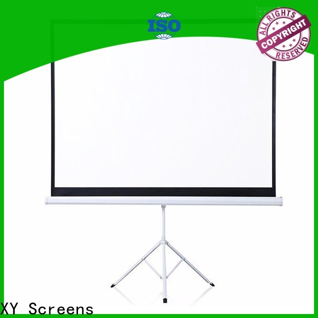 XY Screens tripod projector screen personalized for meeting