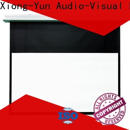 coated fixed projector screen design for home