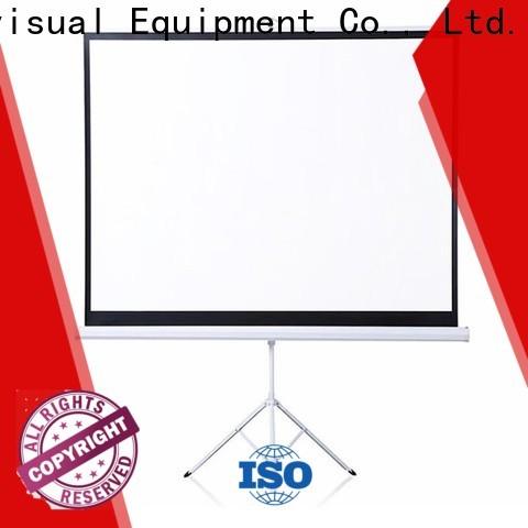 octagonal steel tripod projector screen supplier for meeting