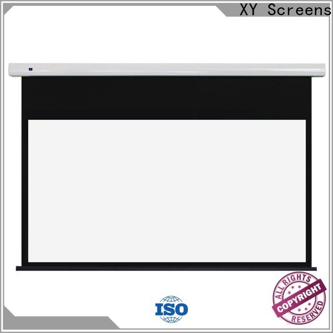 XY Screens electric projector screen factory price for rooms