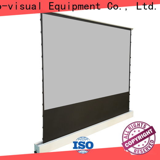 XY Screens rising pull up projector screen design for living room