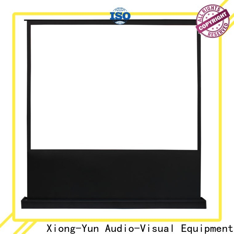 electric pull up projector screen with good price for household