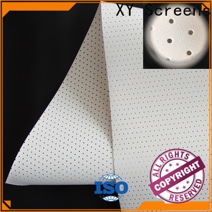 XY Screens acoustically transparent screen material manufacturer for projector screen