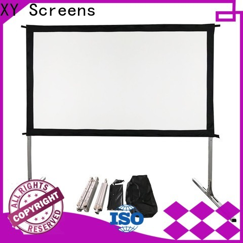 stable outdoor projector screen personalized for public