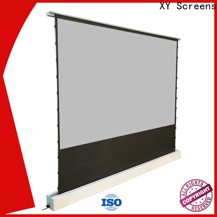 XY Screens rising projection screen price factory for indoors