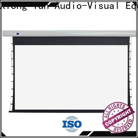XY Screens intelligent tab tensioned projector screen supplier for home