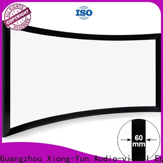 XY Screens Home Entertainment Curved Projector Screens supplier for home cinema