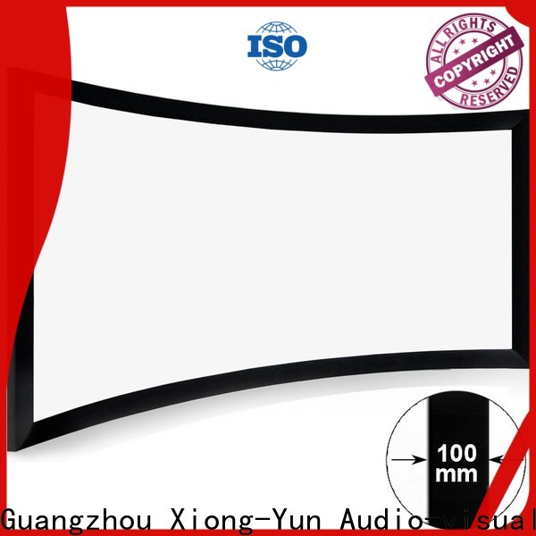 XY Screens slim curved projector screen diy series for rooms