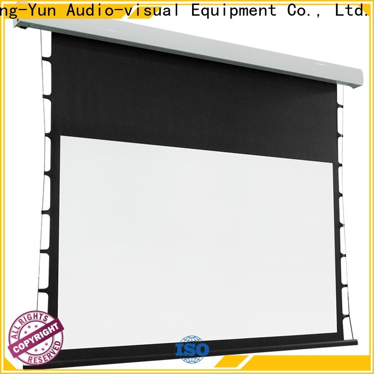 electric tensioned projector screen factory price for home