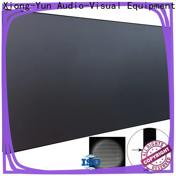 XY Screens thin ultra short throw projector screen series for television