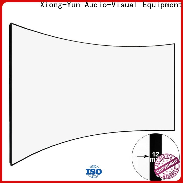 XY Screens Home Entertainment Curved Projector Screens factory price for ktv
