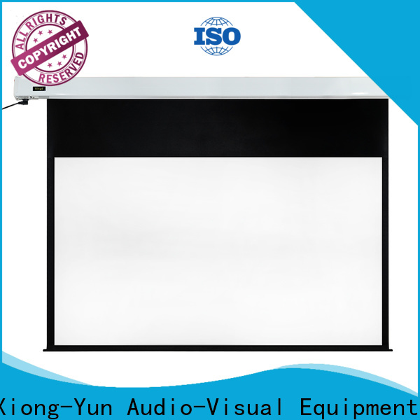 retractable Home theater projection screen supplier for home
