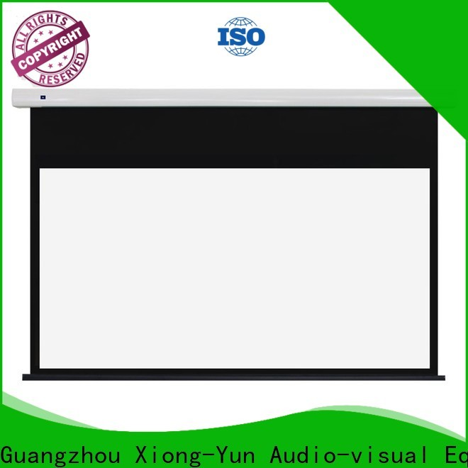 electric Home theater projection screen factory for indoors